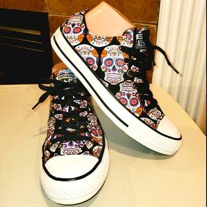 NWOT! CONVERSE Sugar Skull Print Lace Up Sneaker